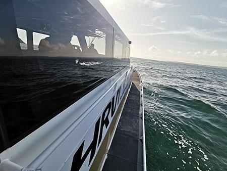 testing on HRV1 at sea